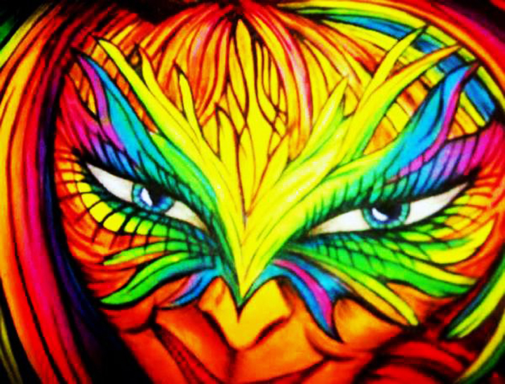The Guardian - Blacklight Art - SoulArt by Radka